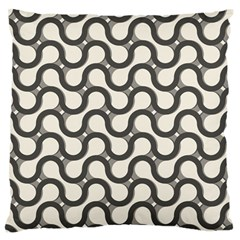 Shutterstock Wave Chevron Grey Large Flano Cushion Case (Two Sides)