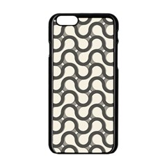Shutterstock Wave Chevron Grey Apple iPhone 6/6S Black Enamel Case