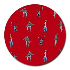 Hotline Bling Red Background Round Mousepads