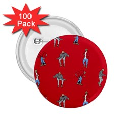 Hotline Bling Red Background 2 25  Buttons (100 Pack)