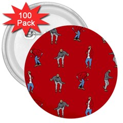 Hotline Bling Red Background 3  Buttons (100 pack)