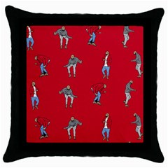 Hotline Bling Red Background Throw Pillow Case (Black)