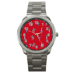 Hotline Bling Red Background Sport Metal Watch