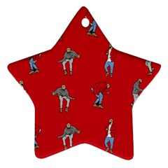 Hotline Bling Red Background Star Ornament (Two Sides)