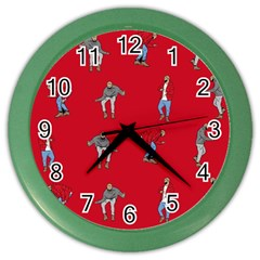 Hotline Bling Red Background Color Wall Clocks