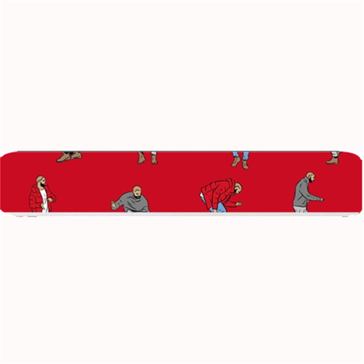 Hotline Bling Red Background Small Bar Mats