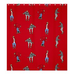 Hotline Bling Red Background Shower Curtain 66  X 72  (large)