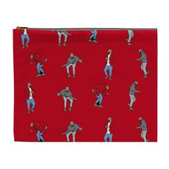 Hotline Bling Red Background Cosmetic Bag (XL)