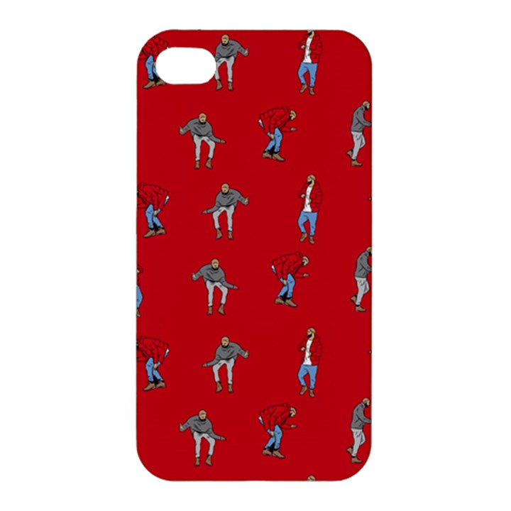 Hotline Bling Red Background Apple iPhone 4/4S Hardshell Case