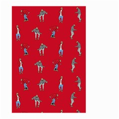 Hotline Bling Red Background Small Garden Flag (two Sides)