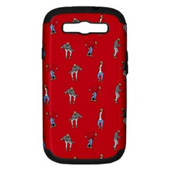 Hotline Bling Red Background Samsung Galaxy S III Hardshell Case (PC+Silicone)
