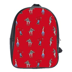 Hotline Bling Red Background School Bags (XL)