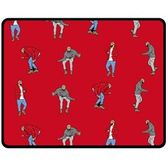 Hotline Bling Red Background Double Sided Fleece Blanket (medium)