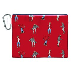 Hotline Bling Red Background Canvas Cosmetic Bag (xxl)