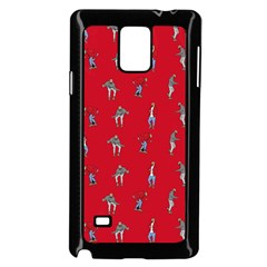 Hotline Bling Red Background Samsung Galaxy Note 4 Case (Black)