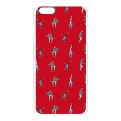 Hotline Bling Red Background Apple Seamless iPhone 6 Plus/6S Plus Case (Transparent)