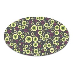 Ring Circle Plaid Green Pink Blue Oval Magnet