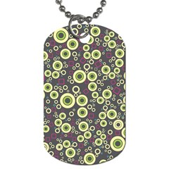 Ring Circle Plaid Green Pink Blue Dog Tag (One Side)
