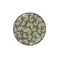 Ring Circle Plaid Green Pink Blue Hat Clip Ball Marker (10 pack)