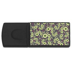 Ring Circle Plaid Green Pink Blue USB Flash Drive Rectangular (4 GB)