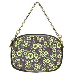 Ring Circle Plaid Green Pink Blue Chain Purses (One Side)