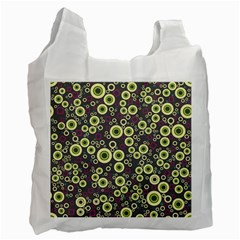 Ring Circle Plaid Green Pink Blue Recycle Bag (One Side)