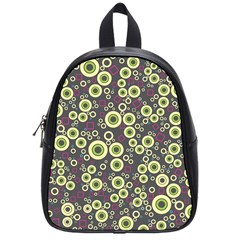 Ring Circle Plaid Green Pink Blue School Bags (Small)