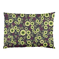 Ring Circle Plaid Green Pink Blue Pillow Case (Two Sides)