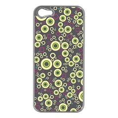 Ring Circle Plaid Green Pink Blue Apple iPhone 5 Case (Silver)