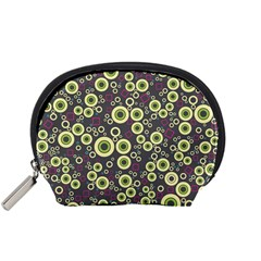 Ring Circle Plaid Green Pink Blue Accessory Pouches (Small)