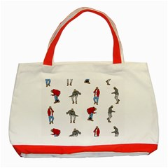Hotline Bling White Background Classic Tote Bag (Red)