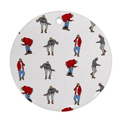 Hotline Bling White Background Round Ornament (Two Sides)