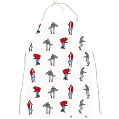 Hotline Bling White Background Full Print Aprons