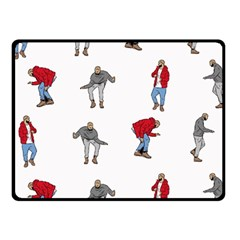 Hotline Bling White Background Fleece Blanket (Small)