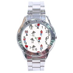 Hotline Bling White Background Stainless Steel Analogue Watch