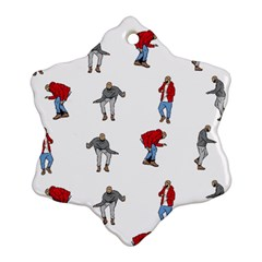 Hotline Bling White Background Ornament (Snowflake)