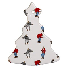 Hotline Bling White Background Christmas Tree Ornament (Two Sides)