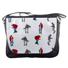 Hotline Bling White Background Messenger Bags