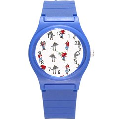 Hotline Bling White Background Round Plastic Sport Watch (S)