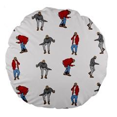Hotline Bling White Background Large 18  Premium Round Cushions