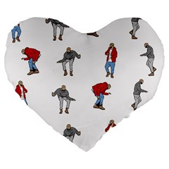 Hotline Bling White Background Large 19  Premium Heart Shape Cushions