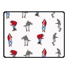 Hotline Bling White Background Double Sided Fleece Blanket (Small)
