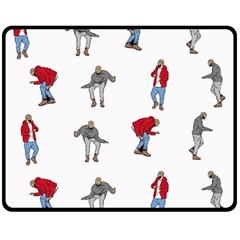 Hotline Bling White Background Double Sided Fleece Blanket (Medium)