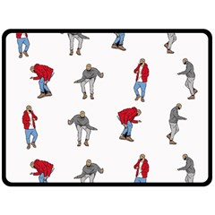 Hotline Bling White Background Double Sided Fleece Blanket (Large)