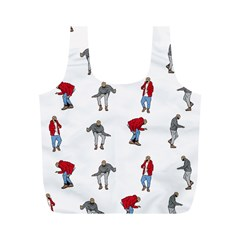 Hotline Bling White Background Full Print Recycle Bags (M)