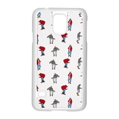 Hotline Bling White Background Samsung Galaxy S5 Case (White)
