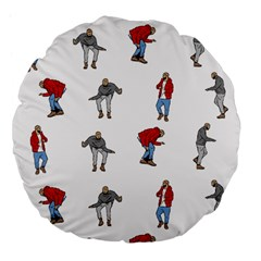 Hotline Bling White Background Large 18  Premium Flano Round Cushions
