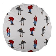 Hotline Bling White Background Large 18  Premium Flano Round Cushions