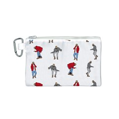 Hotline Bling White Background Canvas Cosmetic Bag (S)