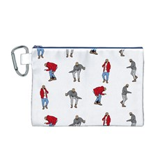 Hotline Bling White Background Canvas Cosmetic Bag (M)